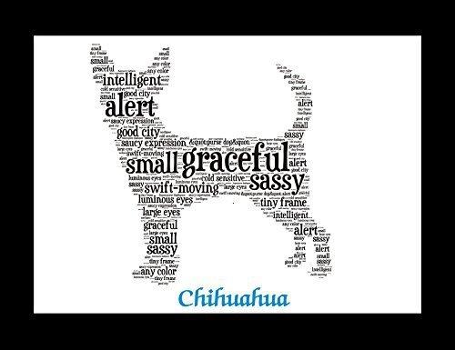 Chihuahua   Personalize   Custom   Print   Art   Dog Art   Gift   Wall Decor   Memorial