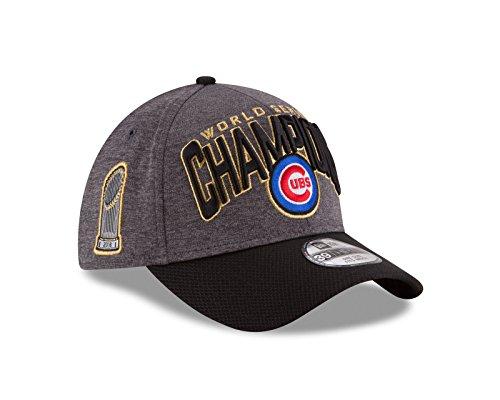 d36a3e6174e Men s Chicago Cubs New Era Graphite Black 2016 World Series Champions  Locker Room On Field 39THIRTY Flex Hat 11417576