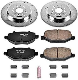 Power Stop K4744 Rear Brake Kit with Drilled//Slotted Brake Rotors and Z23 Evolution Ceramic Brake Pads