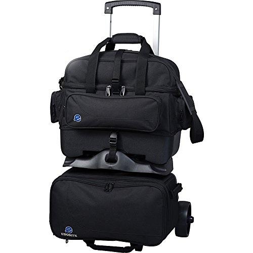 Ebonite EBOE405BLK-1 Transport 4 Ball Roller Bowling Bag, Black, One Size