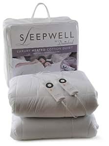 Sleepwell 6982 - Edredón eléctrico de algodón con sensor de temperatura inteligente y control digital
