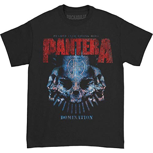 Planet Caravan Pantera Domination Distressed Print T-Shirt