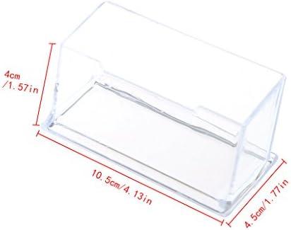JERKKY Transparenter Visitenkartenhalter aus Acryl-Kunststoffständer-Rack-Desktop-Büro