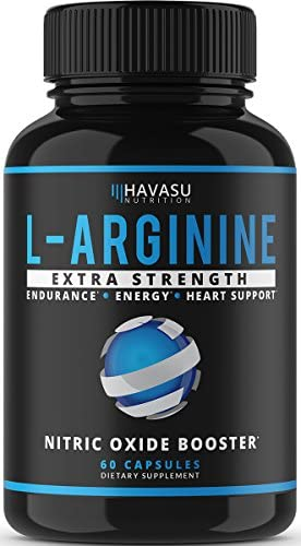Havasu Nutrition Extra Strength L Arginine – 1200mg Nitric Oxide Supplement for Muscle Growth, Vascularity and Energy – L-Citrulline Essential Amino Acids to Support Physical Endurance, 60 Capsules