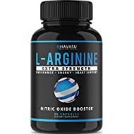 Extra Strength L Arginine - 1200mg Nitric Oxide Supplement for Muscle Growth, Vascularity & Energy - Powerful No Booster with L-Citrulline & Essential Amino Acids to Train Longer & Harder (1)