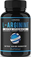 Extra Strength L Arginine - 1200mg Nitric Oxide Supplement for Muscle Growth, Vascularity & Energy - Powerful No Booster...