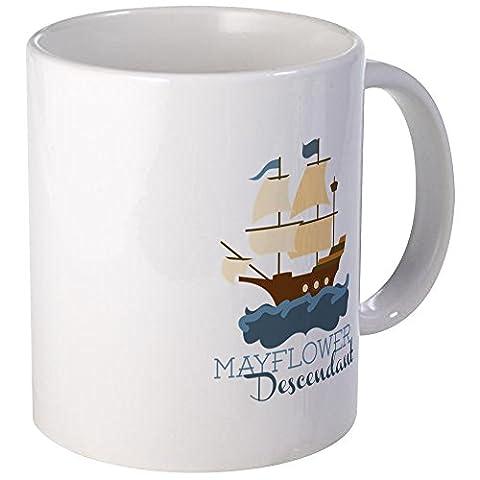 CafePress - Mayflower Descendant Mugs - Unique Coffee Mug, Coffee Cup - Mayflower Wood