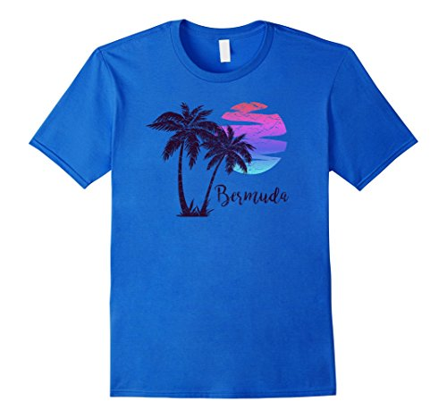 Royal Bermuda (Mens Beach T-Shirt Bermuda Paradise Vacation Souvenir Gift 2XL Royal Blue)