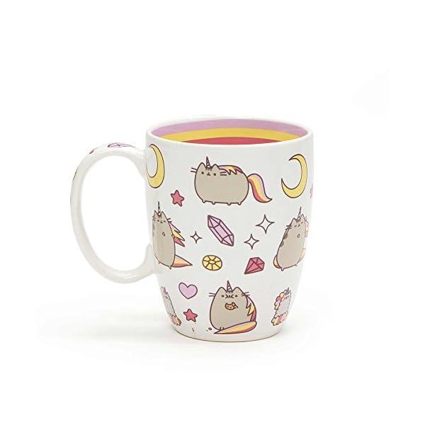 "Pusheen by Our Name is Mud ""Magical Pusheenicorn"" Stoneware Coffee Mug, 12 oz. 4"