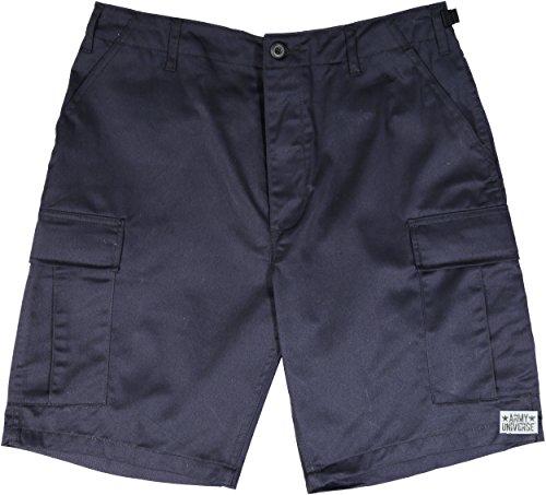 Army Universe Dark Midnight Navy Blue Military BDU Cargo Shorts Pin Size Medium (Waist 31-35