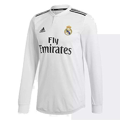 adidas 2018-2019 Real Madrid Home Authentic Long Sleeve Jersey (Core White) ()
