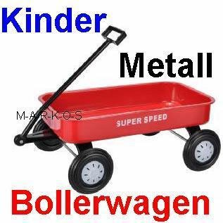 Bevorzugt Toller Kinder Bollerwagen, Handwagen, Ziehwagen, Metall rot (LHS QC13