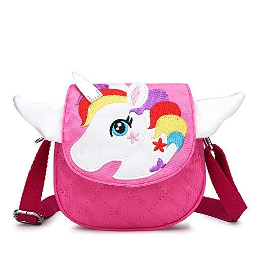 Kids Crossbody Purse Shoulder Bag Mini Cute Unicorn Little Girls Purses Bags Cartoon Animal Messenger Handbag for Children Toddler Baby Girls ()