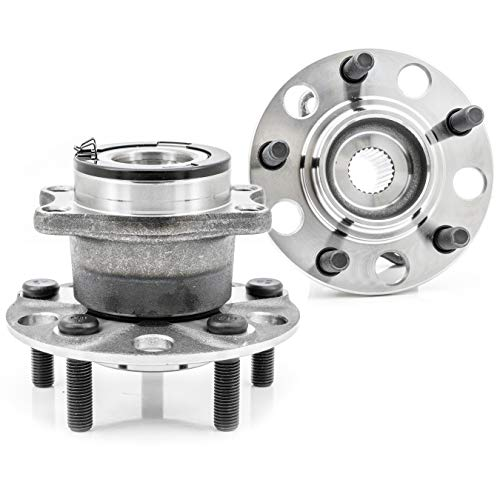 [2-Pack/Pair] 512333 New Rear Wheel Hub & Bearing Assembly For Dodge 2007-2008 Caliber 4x4 / 4WD Model, Jeep 2007-2016 Compass 4x4 / 4WD Model, Patriot 2007-2016 4x4 / 4WD Model