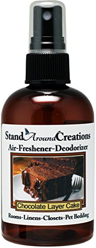 Concentrated Spray For Room / Linen / Room Deodorizer / Air Freshener - 4 fl oz - Scent - Chocolate Layer Cake: A wonderfully delicious fragrance that smells like a dark rich, moist chocolate cake with thick, creamy fudge icing. by Stand Around Creations
