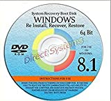Software : WINDOWS 8.1 SYSTEM REPAIR & RE-INSTALL 64 BIT BOOT DISK: Repair & Re-install any version of Windows 8.1 Client, Home, Core, Professional and Professional w/ Media Center (Repair-Restore-Reinstall)