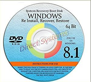 WINDOWS 8 1 SYSTEM REPAIR & RE-INSTALL 64 BIT BOOT DISK