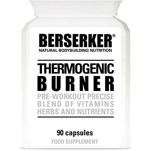 Berserker T5 Thermogenic Burner 90 Capsules (V) (3 Months Supply) High Strength Weight Loss Fat Burner Capsules for Men…