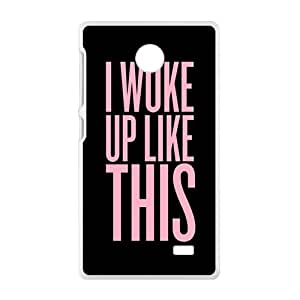 Pink Simple discourse Cell Phone Case for Nokia Lumia X