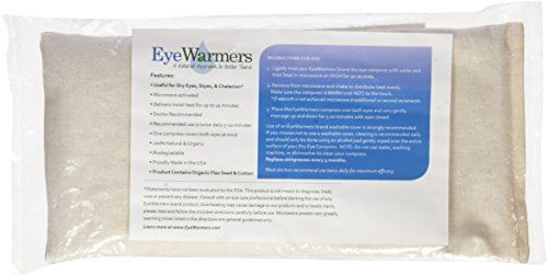 Dry Eye Compress, EyeWarmers Brand. All Natural, Dye-Free Warm Compress for Dry Eyes, Chalazion, Styes, Computer Vision Syndrome, or Tired Eye Relief