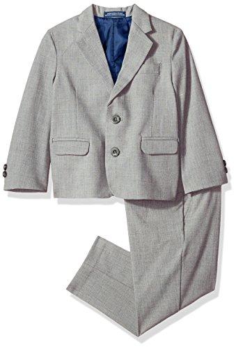 IZOD Boys' Toddler Two Piece Bi-Stretch Suit, Light Grey, 2T