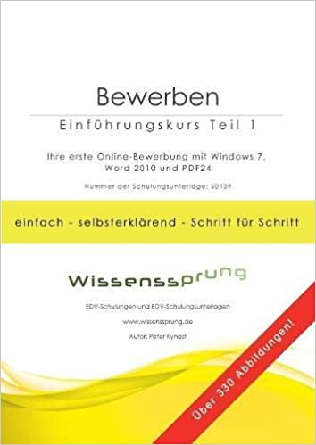 amazoncom bewerben einfhrungskurs teil 1 german edition 9783752832976 peter kynast books - Amazon Online Bewerbung