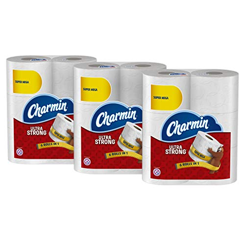 Charmin Super Mega Roll Ultra Strong Toilet Paper, 18 Count