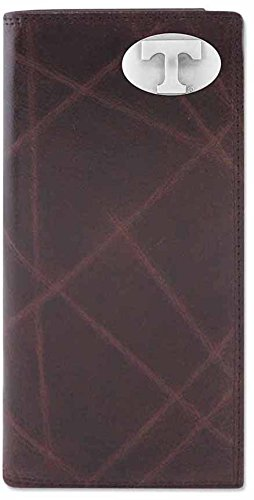 ZEP-PRO NCAA Tennessee Volunteers Men's Wrinkle Leather Roper Concho Wallet, Brown, One Size