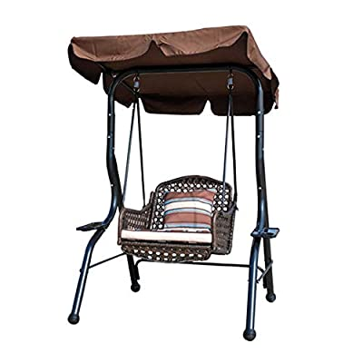 ANBO Canopy Swing Chair Outdoor with Cushions