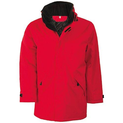Rojo Negro Kariban Chaqueta Jacket Padded Hombre para Parka 8wRnBO7qxa