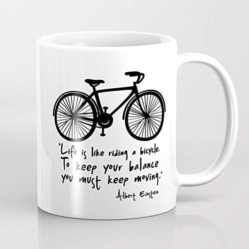 ZIQIZIYU La Vida es como Andar en Bicicleta 325 ml Taza de café: Amazon.es: Hogar