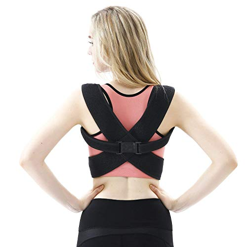 Posture Corrector for Women Men Askmuse Posture Correct Brace Clavicle Support Brace with Adjustable Breathable Mesh Waist Support Wide Straps for Scoliosis Spine Safe Lower Back Pain Relief