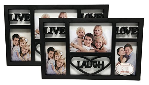 Live Laugh Love Picture Frame (BlacK) 2 Pack by Love 2 Live