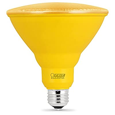 FEIT ELECTRIC PAR38/Y/10KLED Non-Dimmable Led Lamp, 120 Vac, CRI >80, 4-3/4 in Dia X 5 in L, Yellow