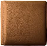 SANTA FE TAN grain leather #105 album with 5-at-a-time pages by Raika - 4x6