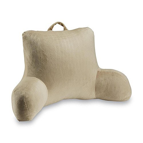 Tan Dream Bedrest Reading Arm Pillow Soft Back Support Dorm Posture Bed Rest by Essential Home