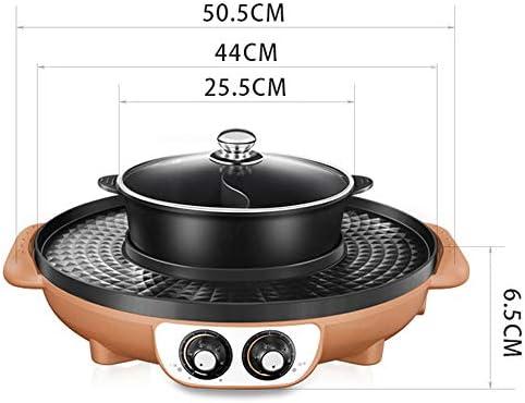 Quality Products Korean BBQ Barbecue Hot Pot Double Pot De Cuisson à Encastrer Pot électrique Hot Pot électrique Barbecue électrique De Cuisson Moule