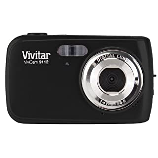 Vivitar 9.1MP Digital Camera with 1.8-Inch Screen (V9112-BLK-PR) , Color May Vary