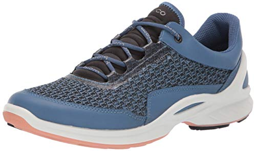 ECCO Women's Biom Fjuel Racer Running Shoe, Retro Blue/Muted Clay, 37 M EU (6-6.5 US)