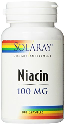 Solaray Niacin Vitamin Capsules, 100 mg, 100 Count ()