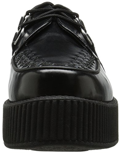 Noir Adulte U Mixte Baskets Sole Mondo Black Creeper Mode K T Round Unvwxv