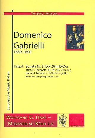 Sonata nº 3 D de DuraSec D. XI. 5: para trompeta (Beige ...