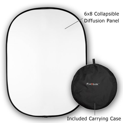 Fotodiox 10BG-68-DIF Fotodiox 6 Feetx8 Feet Collapsible Soft Diffuser Disc Panel for Outdoor and Studio Lighting - White by Fotodiox