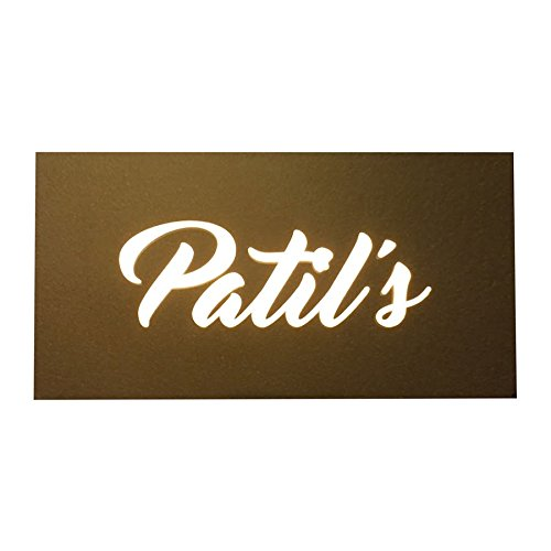 Buy Engrave Patil'S - Glass Name Plate - 12 Inch X 6 Inch
