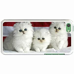 Custom Fashion Design Apple iPhone 5C Back Cover Case Personalized Customized Diy Gifts In 3 kittens White