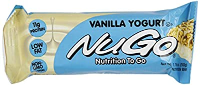 NuGo All-Natural Nutrition Bar, Vanilla Yogurt, 1.76-Ounce Bars