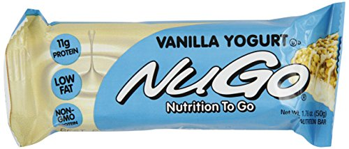 NuGo Protein Bar, Vanilla Yogurt, 1.76-Ounce Bars (Pack of 15)