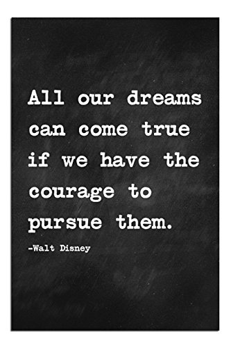 "JP London Solvent Free Print SPAPNSP34 Ready to Frame Poster Motivational Inspiration Sayings Quote Art at 17"" h by 11"" w from Walt Disney"