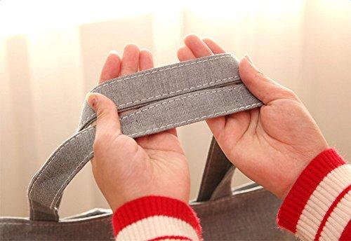 À Pour L'épicerie Size Bandoulière Solution Pliable 38 De 35cm Gris Épicerie noir Réutilisable En Courses Main Écologique Coton Une Sac Laat Mode q0864TZWT