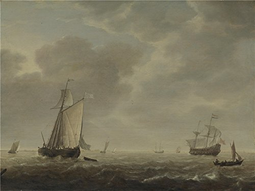 [Oil Painting 'Simon De Vlieger A Dutch Man Of War And Various Vessels In A Breeze' 10 x 13 inch / 25 x 34 cm , on High Definition HD canvas prints is for Gifts And Hallway, Kitchen And Study R] (Thailand National Costume For Male)